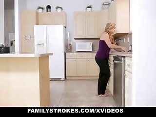 FamilyStrokes - Caring Step-Sister And Mother Tricked And Romped By StepBro