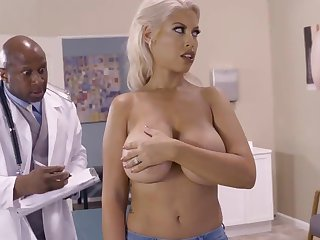 Milf with big natirals fucked off out of one's mind black doctor everywhere ehavy mode