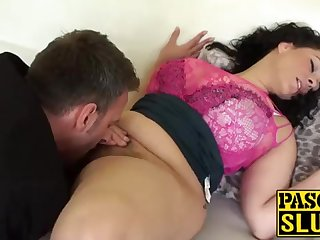 Crazy Anastasia Lux getting their way cootchie tongued coupled with frigged